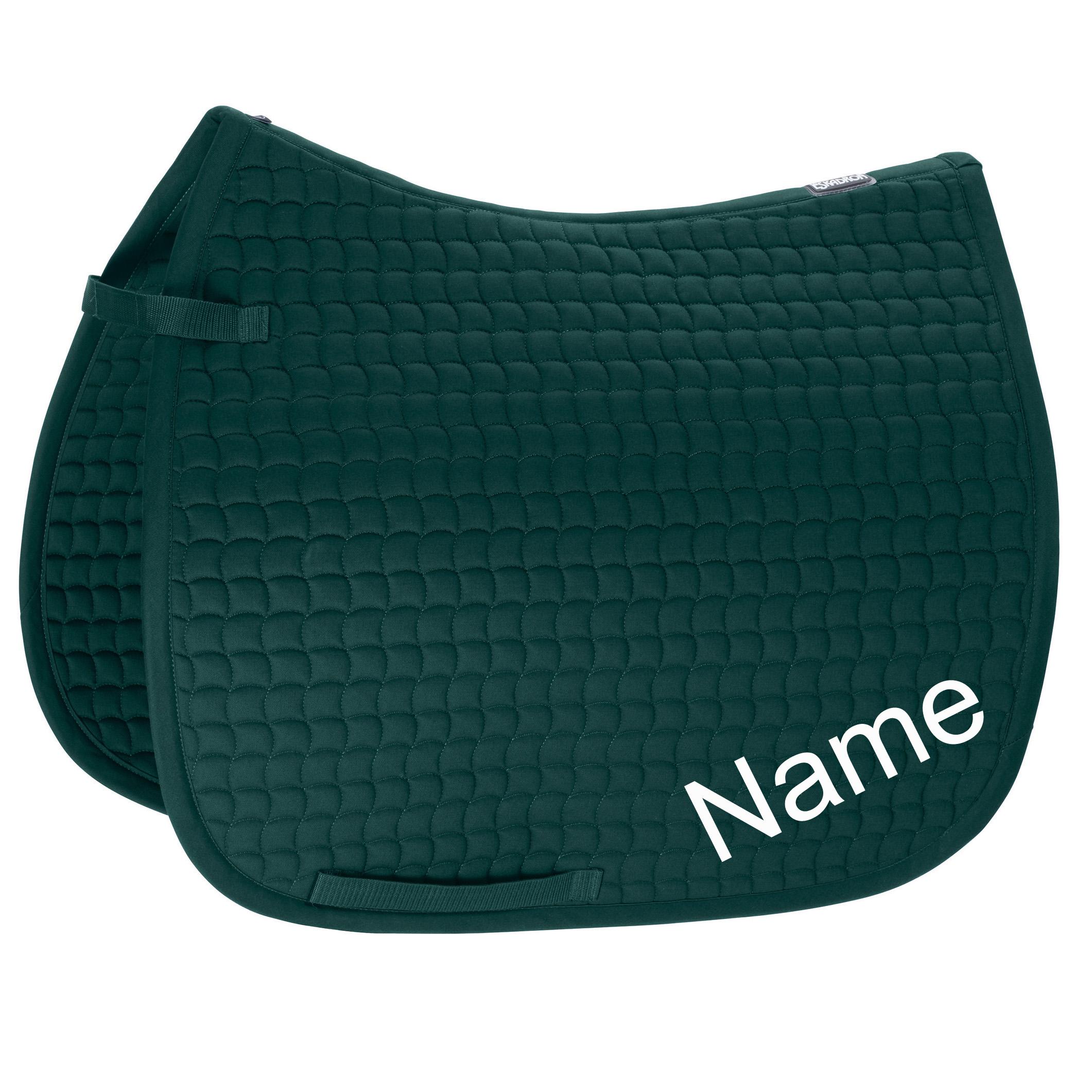 ESKADRON racinggreen Cotton Pony Dressur-Schabracke mit individuellem Namen bestickt