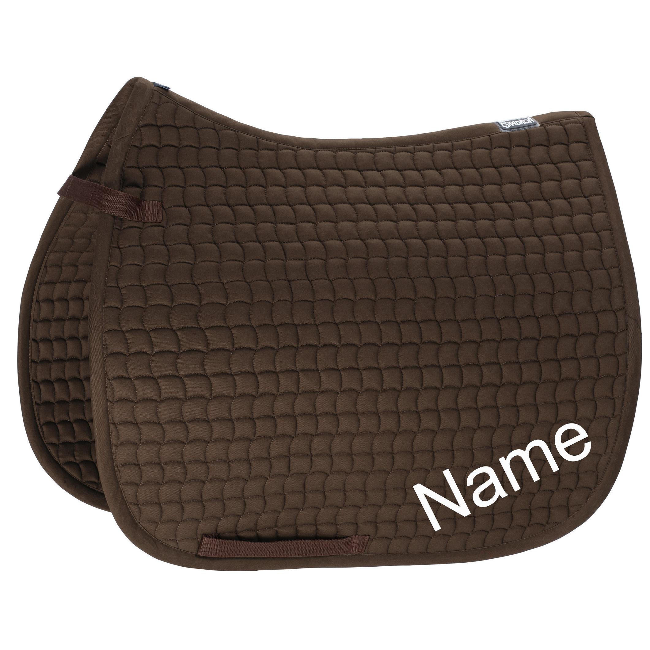 ESKADRON darkbrown Cotton Dressur-Schabracke mit individuellem Namen bestickt