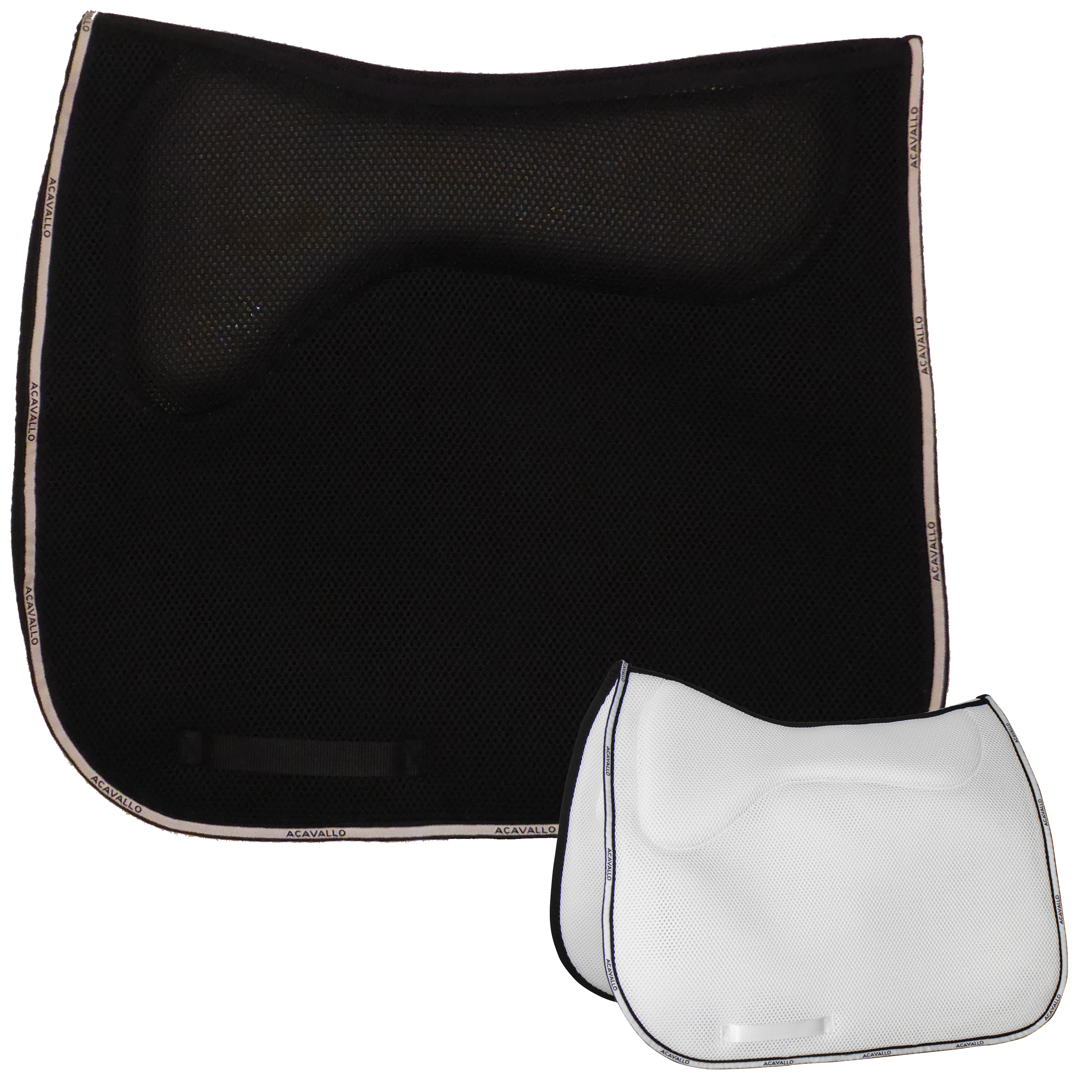Acavallo 3D Spacer Memory Foam Schabracke Dressage  in black - AC247