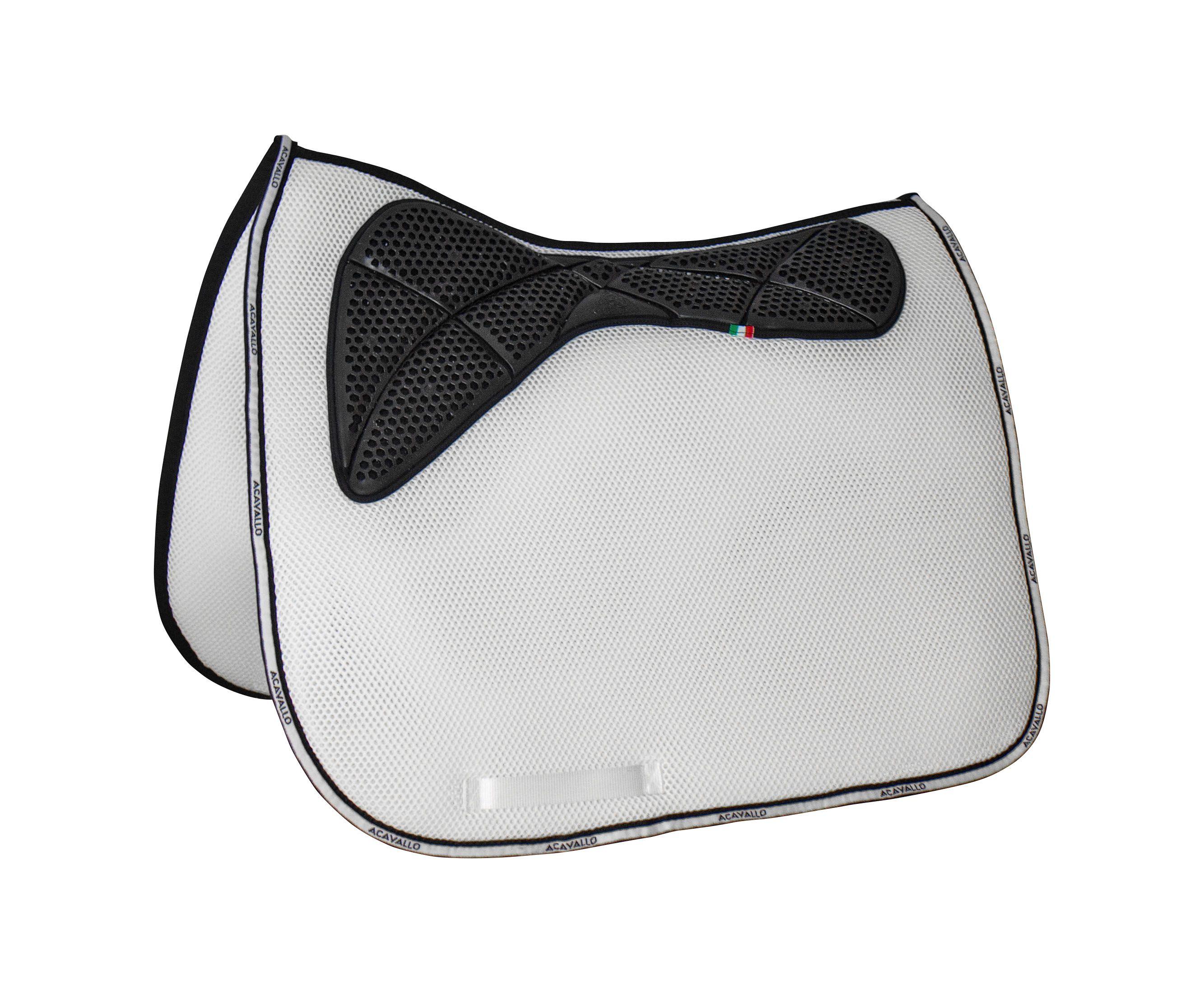Acavallo 3D Spacer Memory Foam  & AC Grip Schabracke Dressage  in weiß - AC249