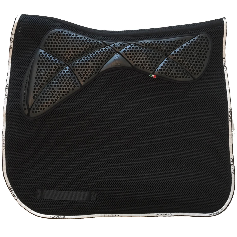 Acavallo 3D Spacer Memory Foam  & AC Grip Schabracke Dressage  in schwarz- AC249