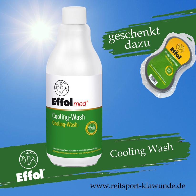 EFFOL MED Gesundheitspflege COOLING WASH für Pferde 500ml inkl. Gratis Wunderschwamm