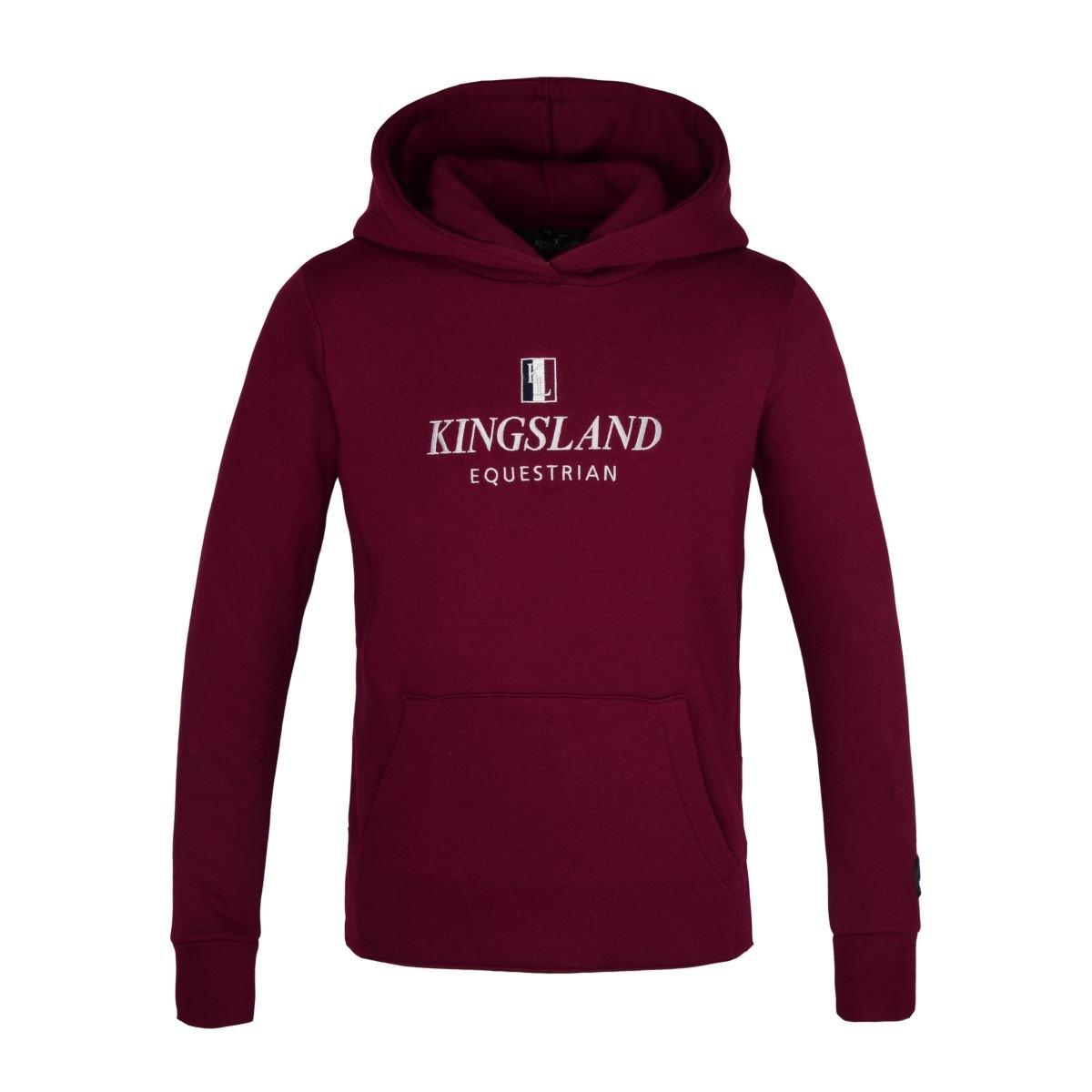 Kingsland Classic Hoddie Junior in burgundy