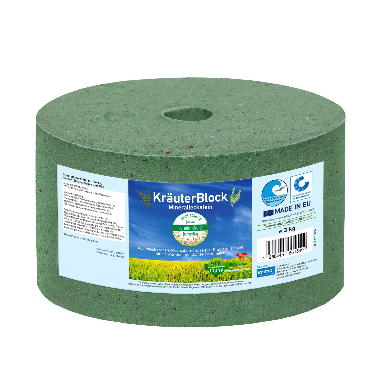 Kräuterblock Mineralleckstein 3kg