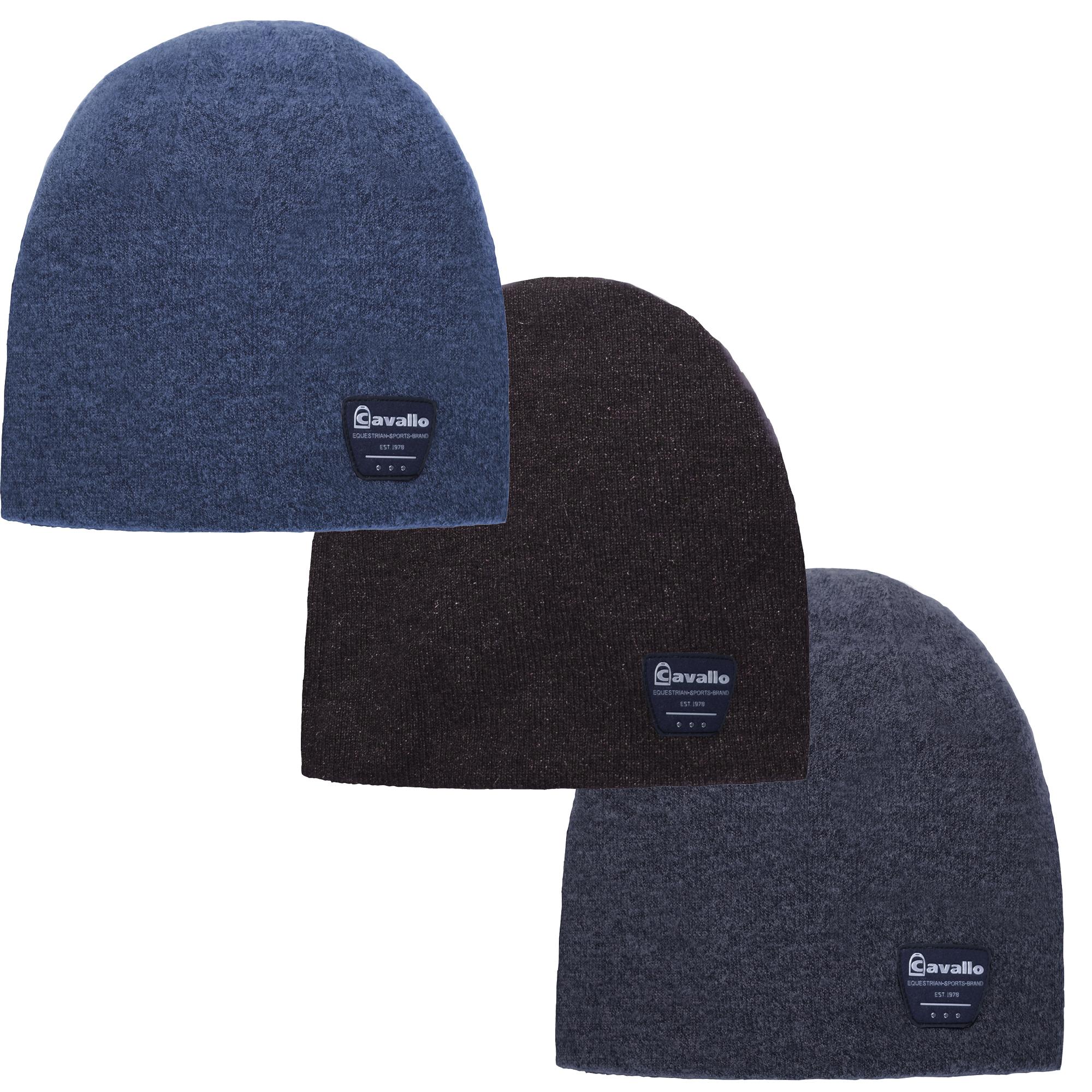 Cavallo Beanie Mütze BRAYLEE in blue melange, espresso melange oder grey melange