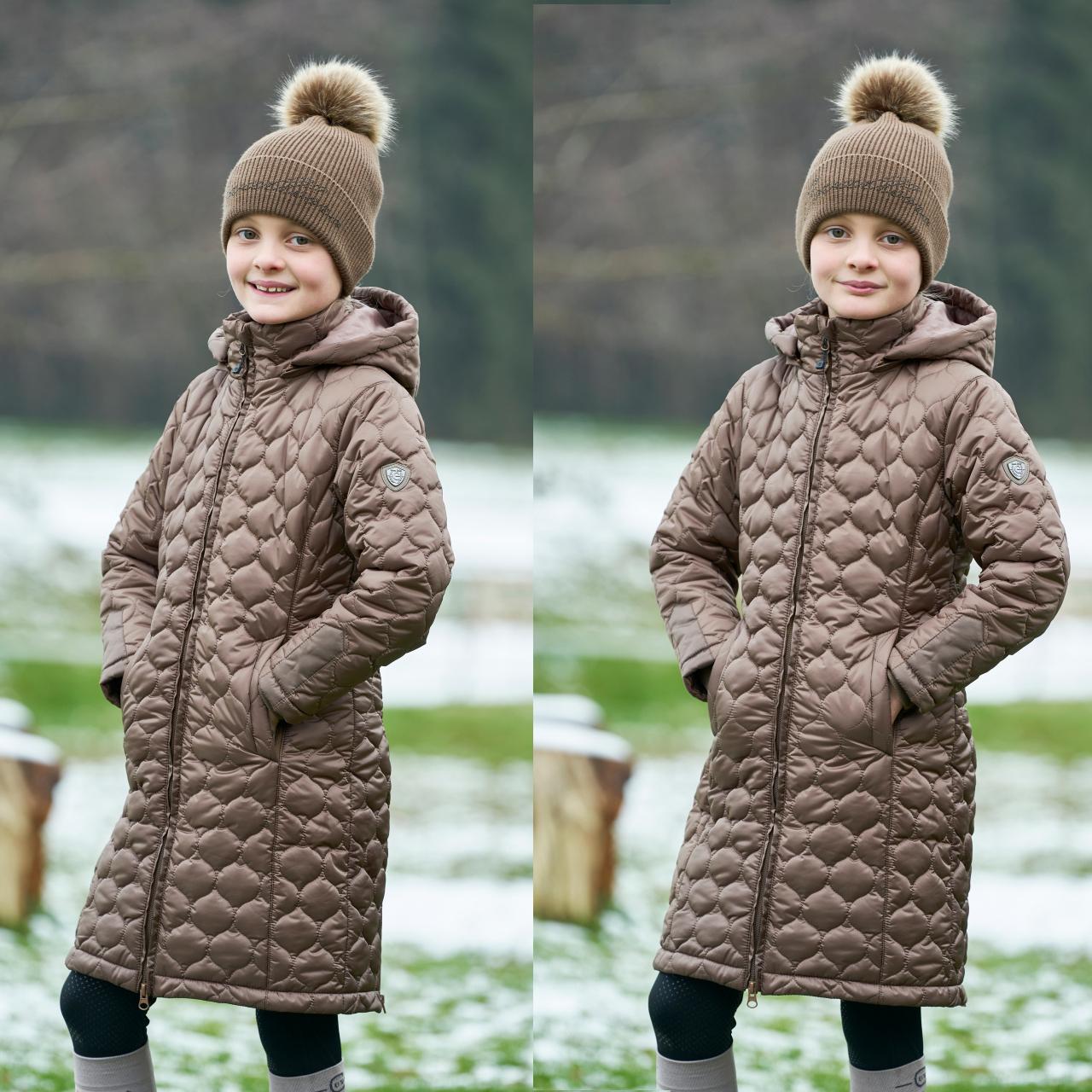 Covalliero Kinder Steppjacke in cappucchino , Reitjacke