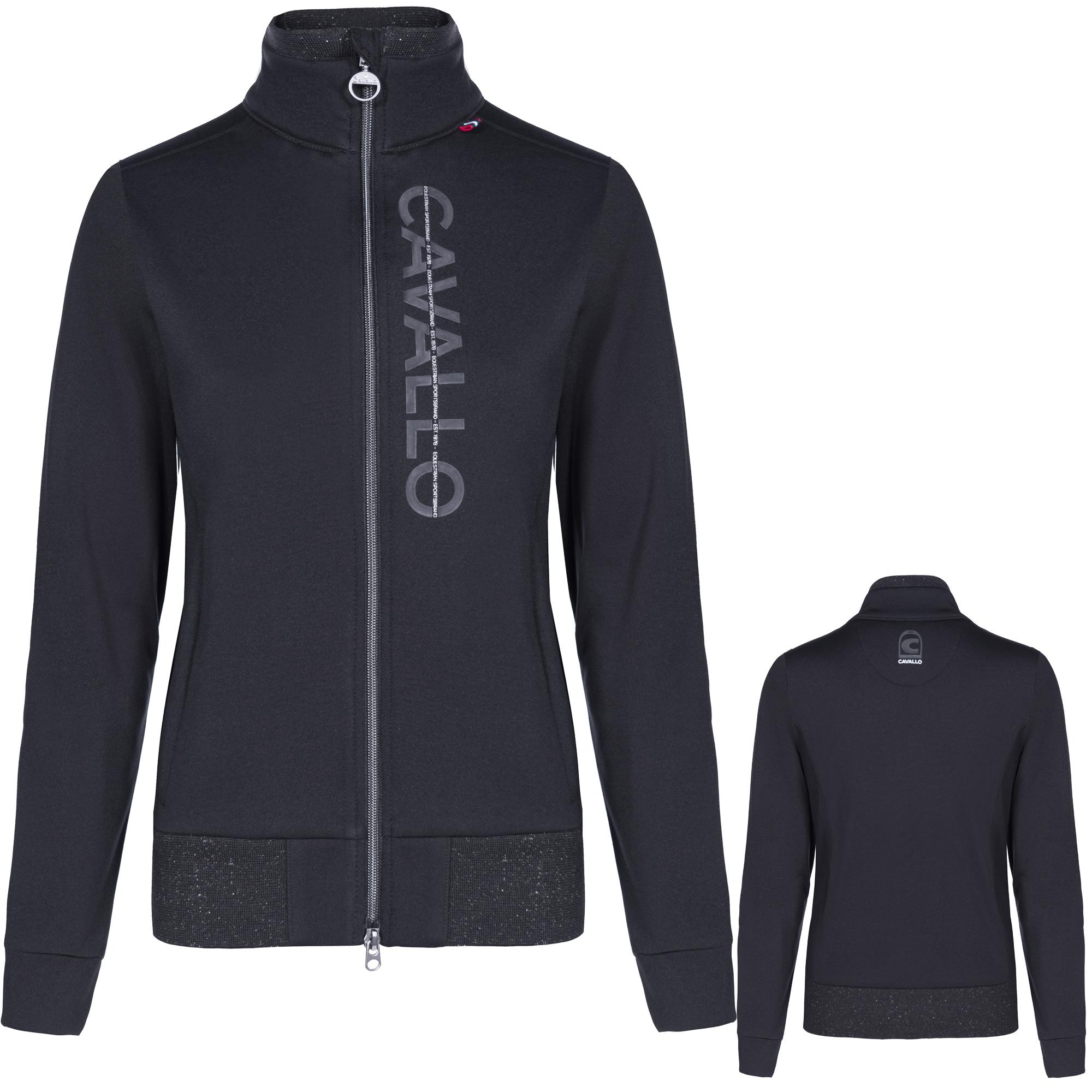 Cavallo Damen Fleece-Jacke Bayda in black