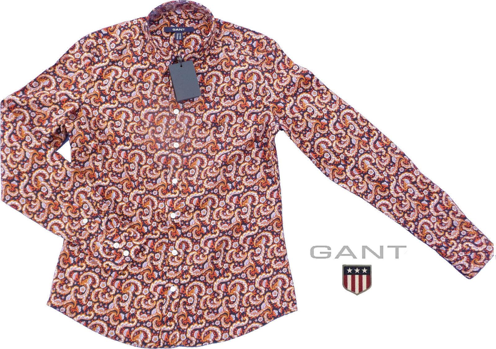 Gant - Bluse Co Pop Stretch Paisley - viele Größen - Neu
