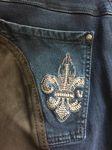 Cavallo Moderne 5-Pocket Jeans-Reithose  CIRA in darkblue-kaffee, NEU
