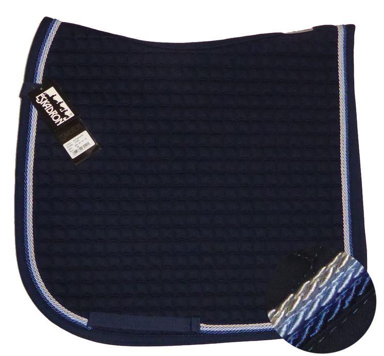 ESKADRON Cotton Schabracke navy, 3fach Kordel silberf/hellblau/jeans- NEU