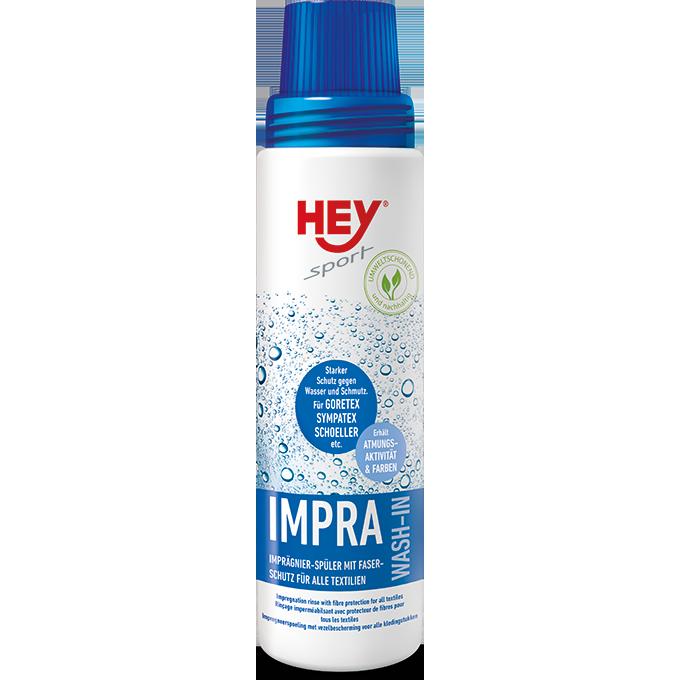 HEY SPORT® Impra Wash-In, Flüssigimprägnierer zum Einspülen - 1 Flasche a 250ml