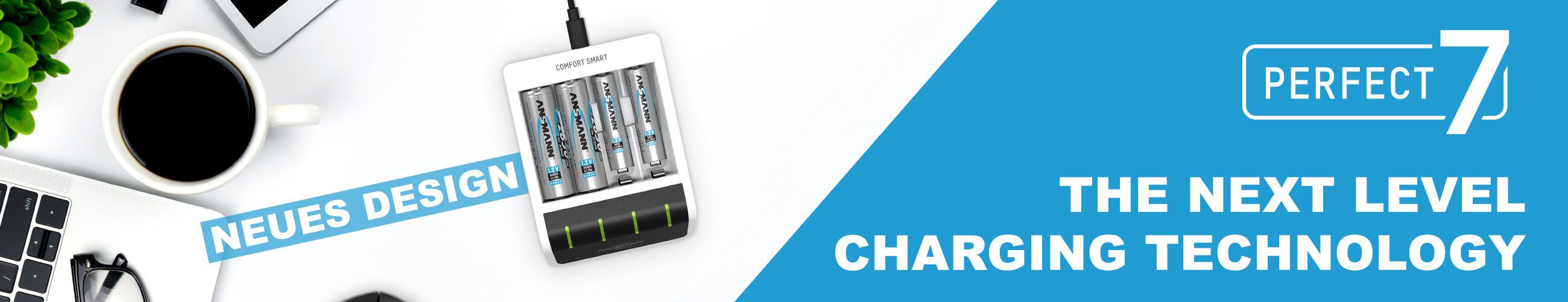 ANSMANN Akku-Ladegerät für 2x NiMH AA/AAA Akkus - Automatik Batterieladegerät