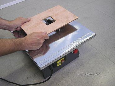 RUBI elektrische Schneidmaschine ND-180 230V-50Hz mit Koffer – Bild 4