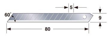 TAJIMA Ersatzklinge ENDURA 9mm – 50 Stück, TAJ-70401 – Bild 2