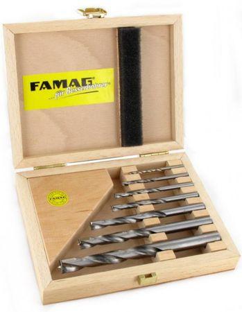 FAMAG 1593 HM Holzspiralbohrer 7-teiliges Set im Holzkasten – Bild 1