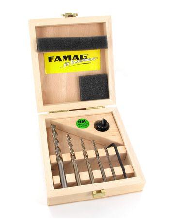 FAMAG Vario-Set Aufstecksenker HM 90° +Holzspiralbohrer 1594 3,4,5,6,8mm – Bild 1