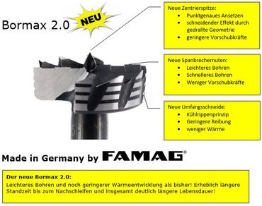 FAMAG Bormax 2.0 WS-Forstnerbohrer 32x57x90mm S=10mm – Bild 3