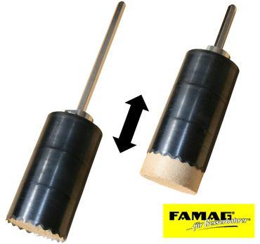 FAMAG Dämmstoff-Lochsäge Ø 121mm inkl. Auswerferschaft – Bild 3