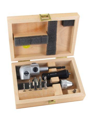 FAMAG Winkelschraubvorrichtung Pro 75 Set  mit Holzspiralbohrer Bits 3, 4, 5, 6mm – Bild 1