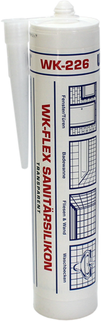 WEKEM WK 226 WK-FLEX Sanitärsilikon transparent 310 ml