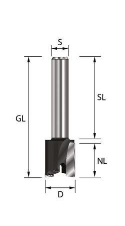Planfräser HW (HM) D30x12 GL 48mm  S8x32  (S) – Bild 1