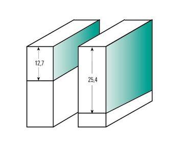 ENT Bündigfräser HW (HM), Schaft (C) 8 mm, Durchmesser (A) 12,7 mm, B 12,7 mm, Z3, D 32 mm, GL 55 mm, mit Kugellager – Bild 2
