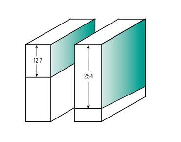 ENT Bündigfräser HW (HM) mit Kugellager S8x32 Z2 D19,05x19 GL62mm  – Bild 4
