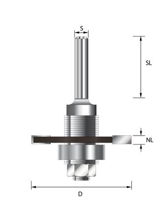 Flachdübelfräser Set HWD47  Schnittbr. 3,97 mm, S 8x32 mm – Bild 4