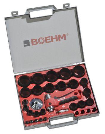 BOEHM JBL249PA Locheisensatz 2-49mm inkl. Halter, Aufnahmescheibe & federnder Zentrierspitze im Kunststoffkoffer