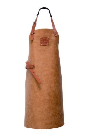 "Xapron Lederschürze, 100% Handarbeit, ""Florida"" lang, Cognac 74cm – Bild 2"