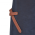 "Xapron Lederschürze, 100% Handarbeit, ""Florida"" lang, Blau 74cm – Bild 3"