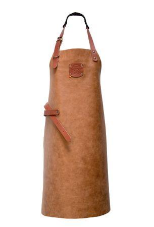 "Xapron Lederschürze, 100% Handarbeit, ""Florida"" lang, Cognac 82cm – Bild 1"