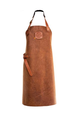 "Xapron Lederschürze aus 100% Handarbeit im Stil ""Utah"" lang, Rust 89cm XL"
