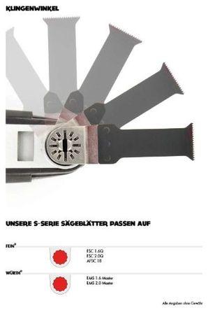10x oszillierendes Coram-Sägeblatt 43mm mit Sternaufnahme – Bild 2
