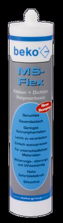 MS-Flex Kleb- und Dichtstoff 300 ml WEISS – Bild 1