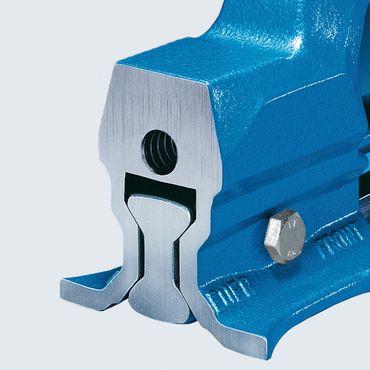 HEUER Schraubstock Backen auswechselbar, 160 mm Backenbreite, 27 kg – Bild 4