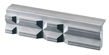HEUER Magnet-Schutzbacke Typ P Schraubstock 135 mm Aluminium mit Prismen – Bild 2