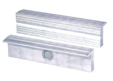 HEUER Magnet-Schutzbacke Typ N für Schraubstock 125 mm, Aluminium mit Rillen – Bild 1