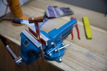 HEUER Magnet-Schutzbacke Typ F für Schraubstock 100 mm, Fiberbelag – Bild 4