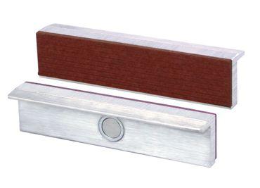 HEUER Magnet-Schutzbacke Typ F für Schraubstock 115 mm, Aluminium-Fiberbelag – Bild 1