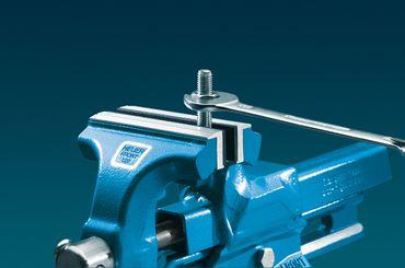 HEUER Magnet-Schutzbacke Typ G für Schraubstock 100 mm, Aluminium-Gummibelag – Bild 3
