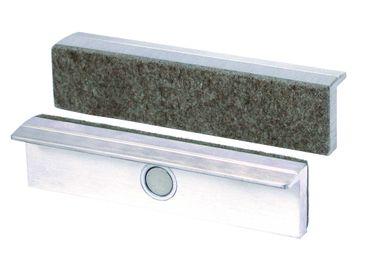 HEUER Magnet-Schutzbacke Typ Fi für Schraubstock 135 mm, Aluminium-Filzbelag – Bild 1