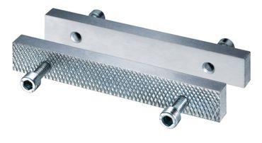 HEUER Wechselbacken für Schraubstock 120 mm, Stahl, gehärtet, verzinkt – Bild 1