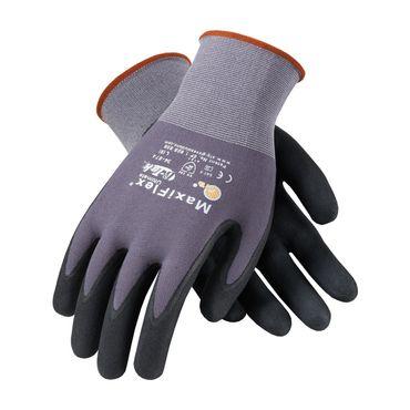 12 Paar ATG Nylon Handschuhe MaxiFlex® Ultimate grau/schwarz  Gr. 7 (S) – Bild 2