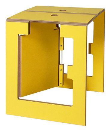 KABRÉ Klapphocker Falter gelb – Bild 1