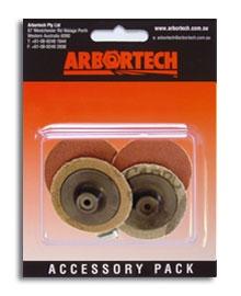 Arbortech Mini Grinder Sanding Pads 50 mm (Korn 80) - 4 Stück – Bild 1