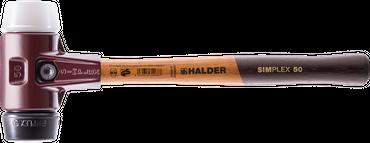 SIMPLEX-Schonhämmer, Stahlgussgehäuse und hochwertigen Holzstiel =50 mm