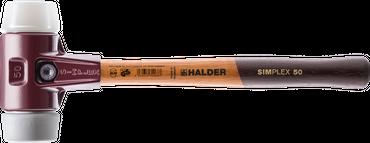 SIMPLEX-Schonhämmer, mit Stahlgussgehäuse hochwertigen Holzstiel Ø=60 mm