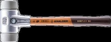 SIMPLEX-Schonhämmer, mit Aluminiumgehäuse und hochwertigem Holzstiel   Ø=50 mm   3103.050