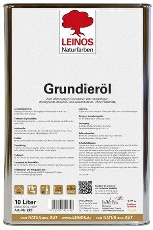 Leinos 220 Grundieröl für Innen 10 l